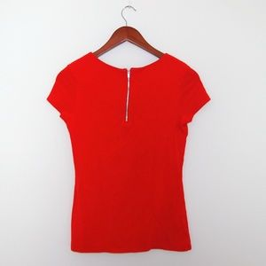 Express Soft Red Top With Back Zipper